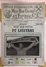 More details for rare - west ham united vs fc lusitans - europa league - new programme - free p&p