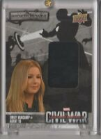 2016 UD Marvel Captain America Civil War Wardrobe Trading Card Emily Vancamp