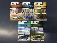 Official Genuine Subaru 1/64 Die Cast Toy 7 Car Set Wrx STi Outback Forester +++