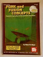 FUNK FUSION CONCEPTS Glenn W. Meyer MEL BAY Drum Instruction Rare Sealed CD OOP