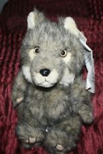 vintage plush National Wildlife Federation grey wolf with tag
