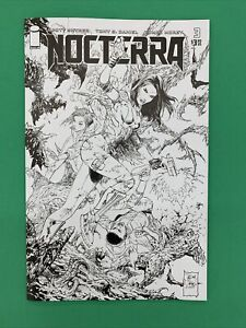 Nocterra #3 1:10 Black and White First Print B&W Sketch Variant Image 2021
