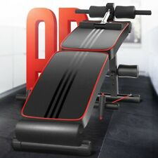 Folding Adjustable Ab Sit Up Bench Decline Home Gym Crunch Fitness Board US