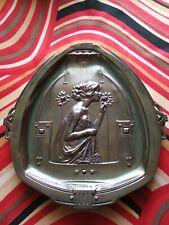 Art Nouveau/Jugendstil__Girl__Roses __Mucha__OBE/WMF__Silver Plated__1900