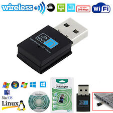 300Mbps MINI Wireless USB LAN WiFi Adapter 802.11n Network Card Dongle PC Laptop