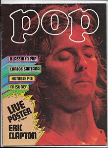Pop Nr.2 von 1972 mit Riesenposter Eric Clapton, Melanie, Richie Blackmore, Man