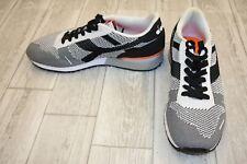 Diadora Titan Weave Athletic Shoes - Black/White/Orange - Size 10.5
