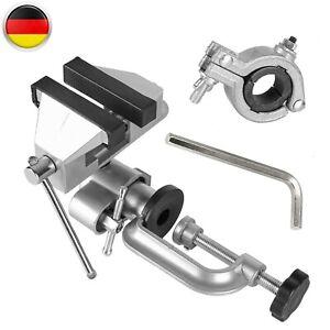 Drehbar 360° Tisch Feinmechaniker-schraubstock Inkl. Bohr & Maschinen Halterung