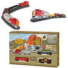 Bachmann 00647 Santa Fe Flyer Electric Train Set w/ E-Z Track HO Scale