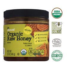 Gold Emblem Abound USDA Organic Raw Honey Unfiltered - Kosher U.S Grade A