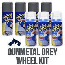 Performix Plasti Dip Gloss Wheel Kit 4 Gunmetal Gray 3 Glossifier Aerosol Grip