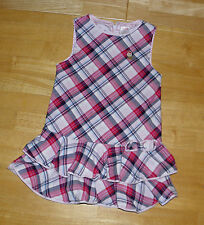 GYMBOREE NEW YORK GIRL RED & PINK PLAID TIERED DRESS GIRLS 4
