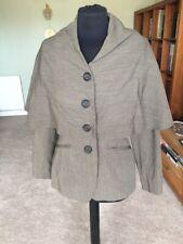 Brown Wool Vintage Dries Van Noten Cape Quirky Jacket