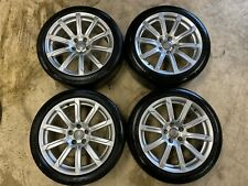 "Set 4 Genuine Audi A5 18"" Alloy Wheels and tyres S Line 245 40 tyres 10 spoke"