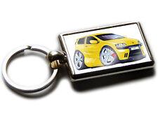 FIAT PUNTO SPORTING Hatch Back Car Koolart Chrome Keyring Picture Both Sides