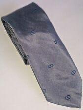 Vintage Formula 70's Retro Fashion Tie Designer Grey Glossy Polyester Silk UK