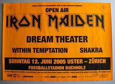 IRON MAIDEN Zurich Switzerland 2005 ORG CONCERT POSTER Dream Theatre METAL VG+