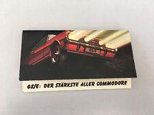 original Opel Commodore A GS/E Coupé Streichhölzer RAR/SELTEN