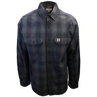 Carhartt Men's Relaxed Fit Grey Plaid L/S Woven Shirt (371)