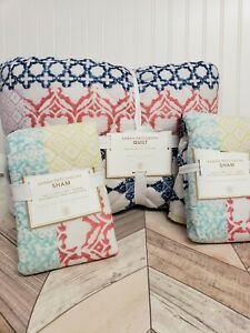 Pottery Barn Teen Sarah Patchwork Full Queen Quilt and shams NWT