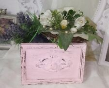 Pflanzschale Holzschublade Ornament Schublade Rose Shabby Brocante Landhaus 18cm