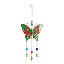 "Multi Color Beads, Goldtone Butterfly Chime New In Box 14"" Long"