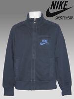 NEW NIKE Sportswear NSW Vintage Distressed Fleece Cotton Jacket Navy Blue Large