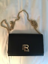 Nappa Leather RL Chain Wallet in Black by Ralph Lauren Collections