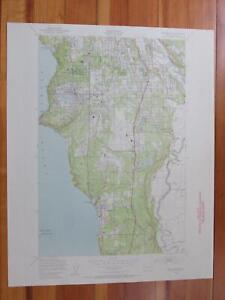Des Moines Washington 1956 Original Vintage USGS Topo Map