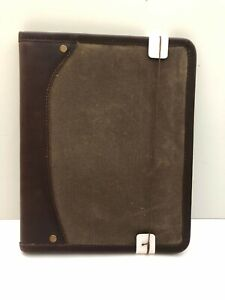 Buffalo Jackson Leather Business Portfolio Padfolio Organizer Green Notepad NEW