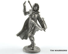 Amazon warrior with bow Tin toy soldier 54mm miniature figurine. metal sculpture