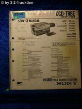 Sony Service Manual CCD TR8E Video Camera Recorder (#2858)