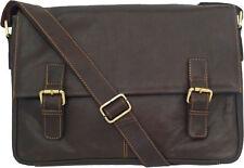 "Unicorn Vera Pelle Marrone 16,4 ""Laptop / Netbook Messenger Bag # 5L"