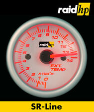 Raid hp SR Line Zusatz Instrument Abgas/Auspuff Temperatur Anzeige rot weiß 52mm