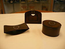 Vintage Arts & crafts Mission - Heintz  Bronze with Sterling Overlay Desk Set