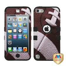 For iPod Touch 5 5th Gen Rubber Impact Tuff Hybrid Case Skin Cover Football
