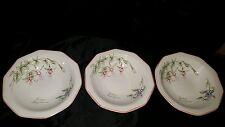 Disc. Set/3 rimmed soup bowls Churchill The Chartwell Collection Secret Garden