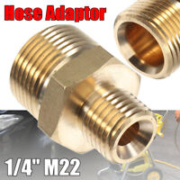 1/4'' Male x M22 Male Adaptor Pressure Washer Hose Connect Coupling For  !