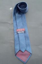 Vintage Jos A Bank Men's Tie Extra Long Silk Black Navy Pink Pin Lines EUC!