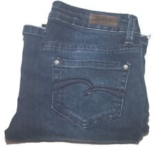 Justice Girl's Premium Jeans Sz 1 00004000 0R Simply Low Flare Dark Blue Jeans #765