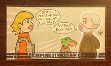 Topps Empire Strikes Back 30th Anniversary Luke and Yoda color sketch card 1/1