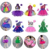 Girls' Ballet Dress Dance Leotard Sequins Tutu Layered Ballerina Dancing Costume