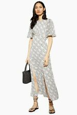 TOPSHOP Ivory Austin Star Print Angel Sleeve Midi Dress Size 6 BNWT