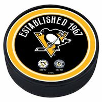 Pittsburgh Penguins 3D Textured NHL Heritage Souvenir Hockey Puck