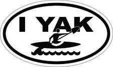 I YAK Kayak Window Sticker Decal