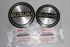 2 Embleme orig. Suzuki GS850 GS750 GS650 Zündungsdeckel Motordeckel Deckel re+li