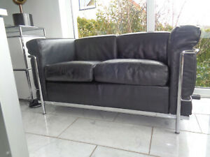 Cassina LC2  Le Corbusier Sofa 2-Sitzer Black