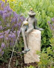 Bronzefigur Wasserspeier Froschkönig Gunter H32cm Rottenecker Bronze Frosch