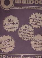 Omnibook Magazine December 1938 Thomas Wolfe Douglas Reed