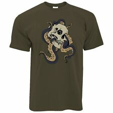 Creepy Art T Shirt Skull And Octopus Graphic Metal Goth Scary Cool Metal